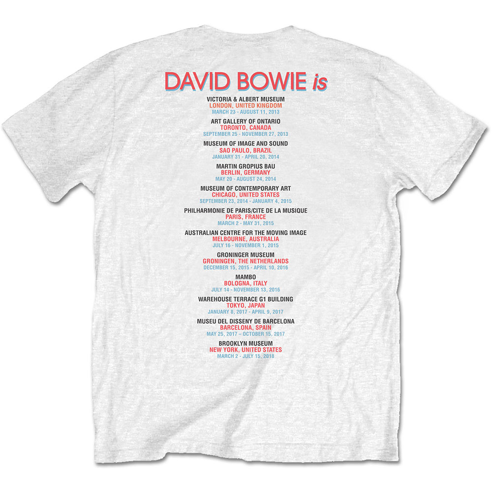 David Bowie - Bowie Is (Back Print) (White)