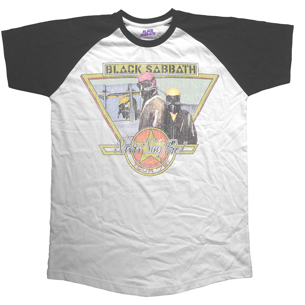 Black Sabbath - Never Say Die (Raglan) (White)