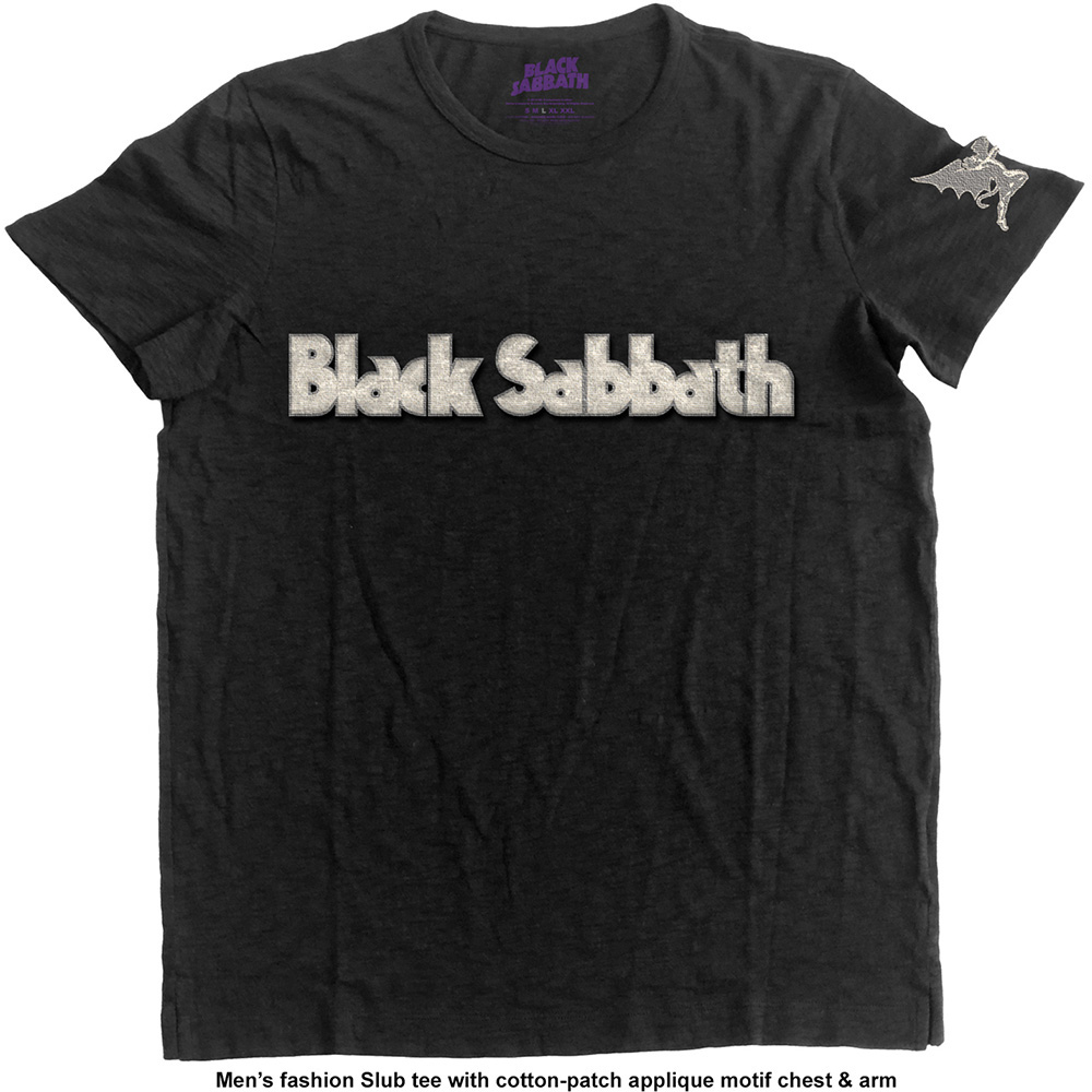 Black Sabbath - Logo & Daemon with Applique Motifs (Black)