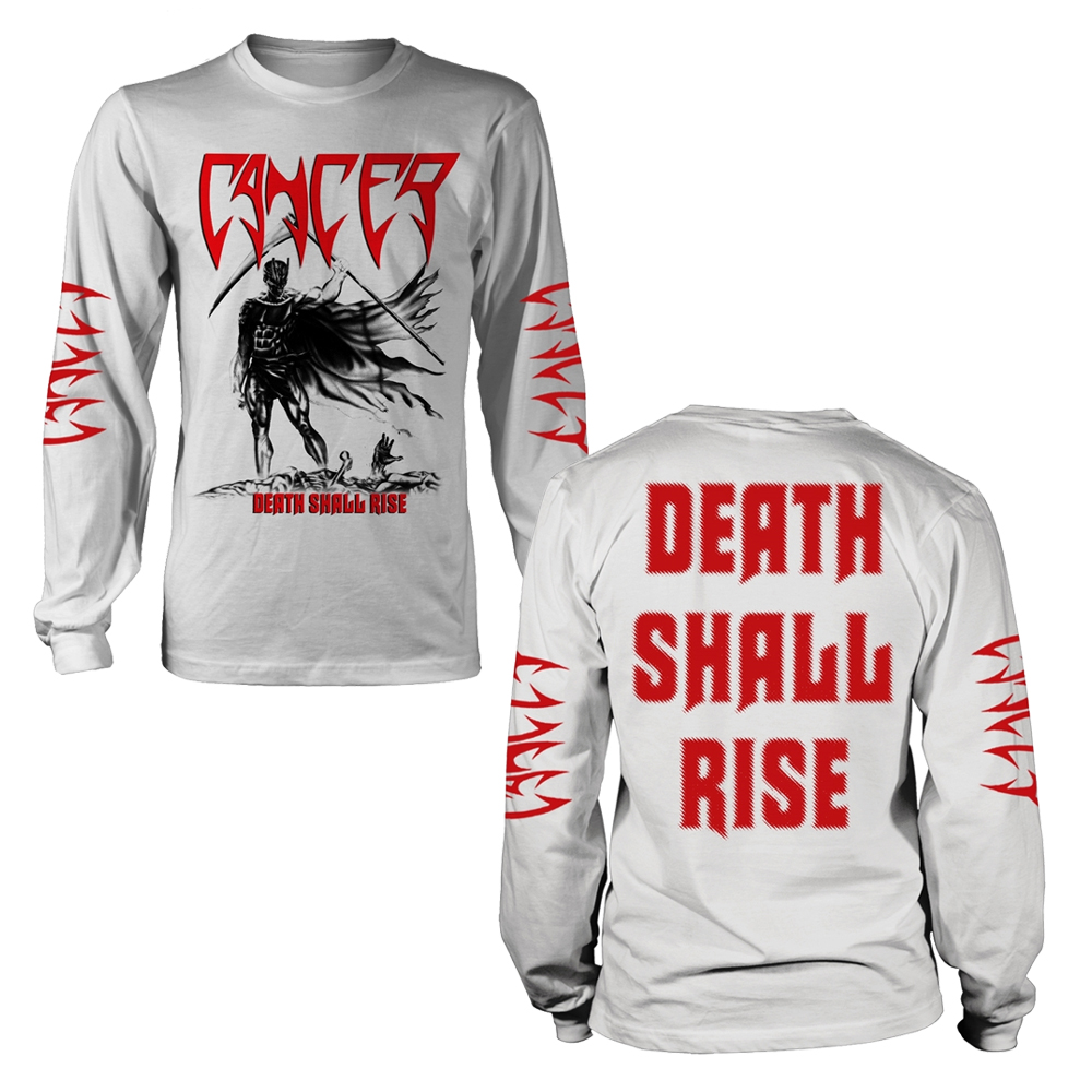 Cancer - Death Shall Rise (White) (Longsleeve)