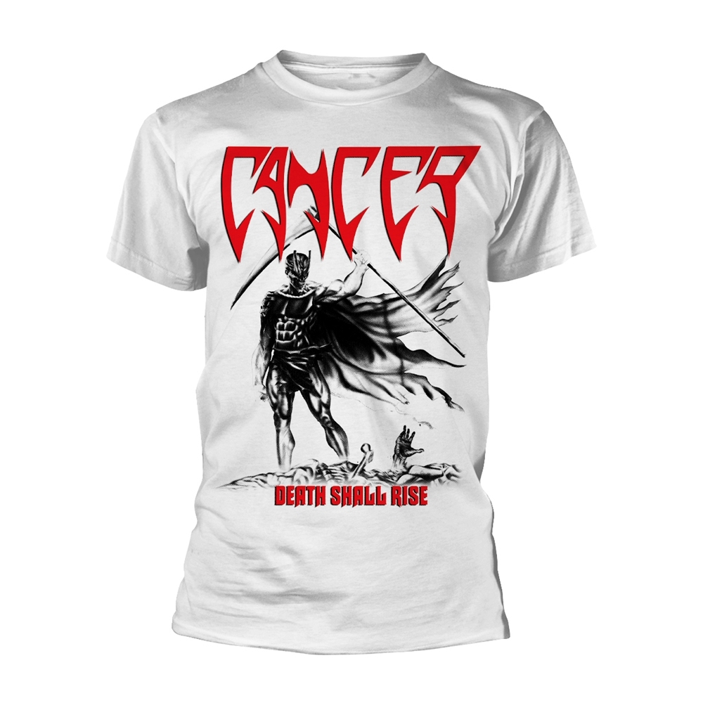 Cancer - Death Shall Rise (White)