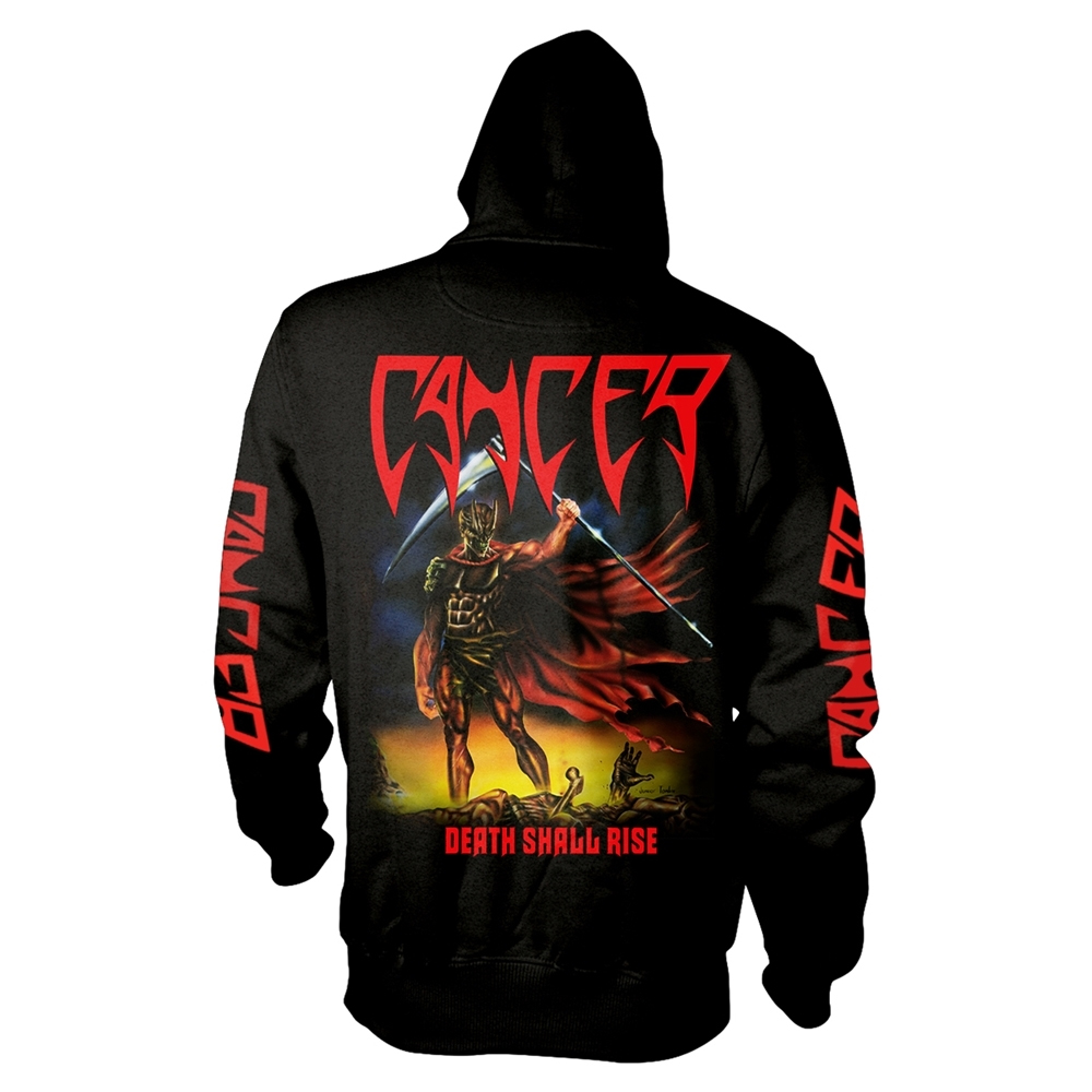 Cancer - Death Shall Rise (Black Zip Hoodie)