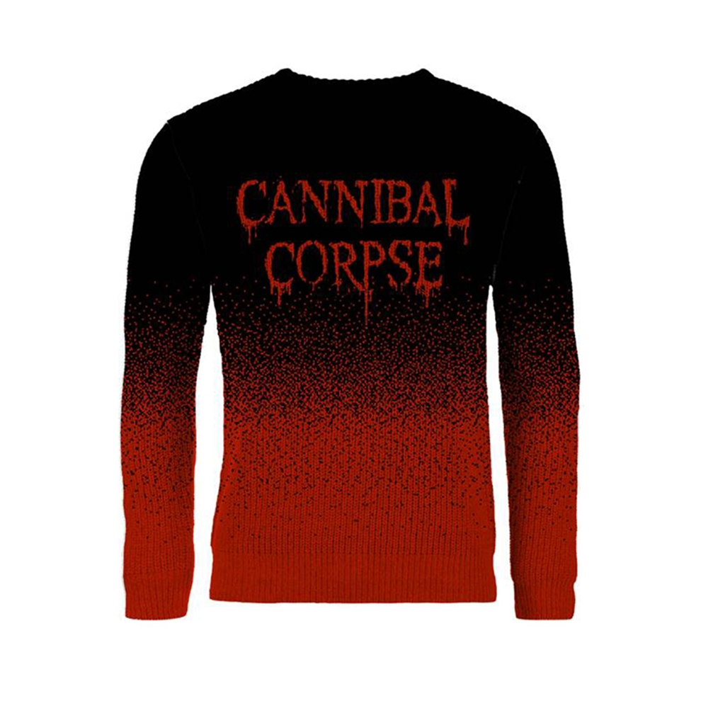 Cannibal Corpse - Dripping Logo (Dip Dye Knitted Jumper)