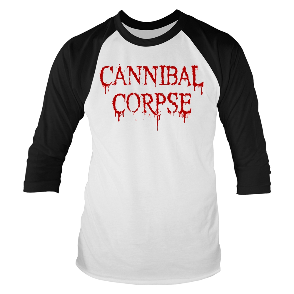 Cannibal Corpse - Dripping Logo (Baseball Shirt)