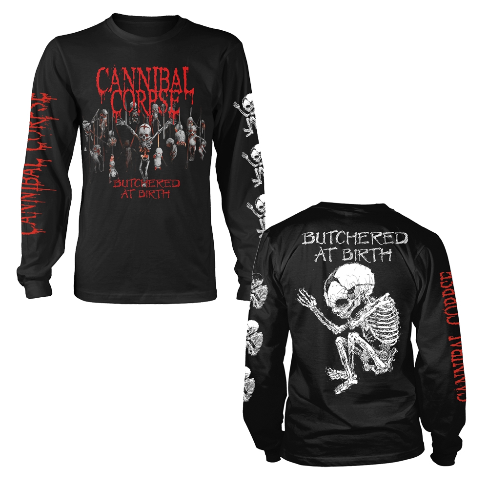 NEW /& OFFICIAL! Cannibal Corpse /'Butchered At Birth Baby/' LS Shirt