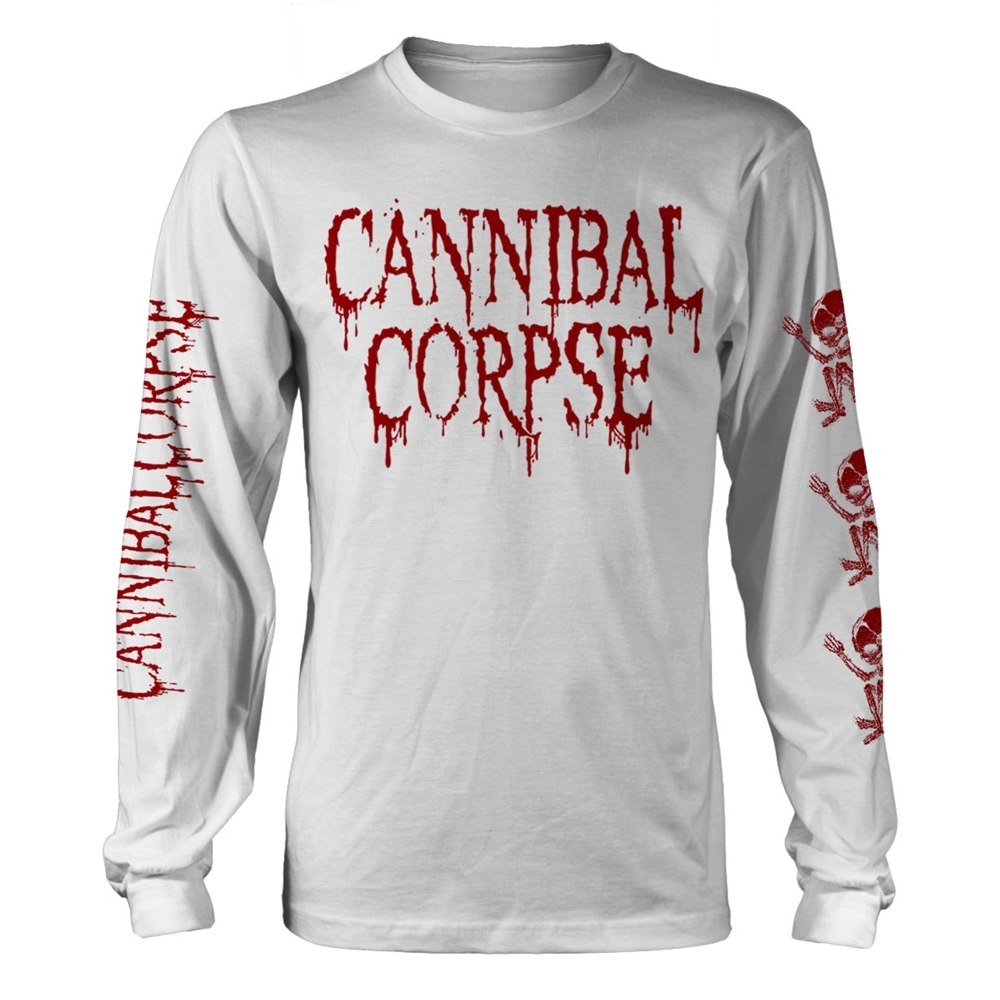 Cannibal Corpse - Butchered At Birth Logo (White Longsleeve)
