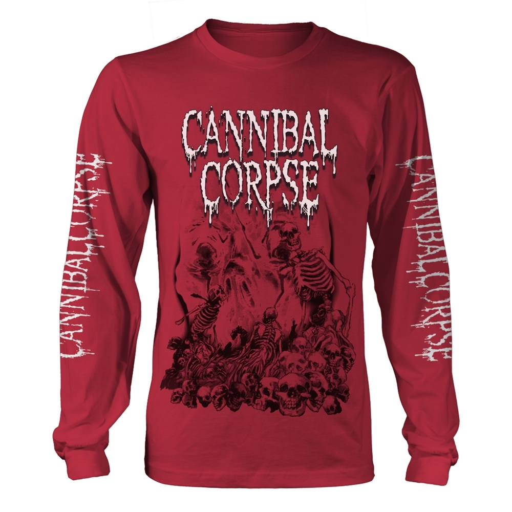 Cannibal Corpse - Pile Of Skulls 2018 (Red Longsleeve)