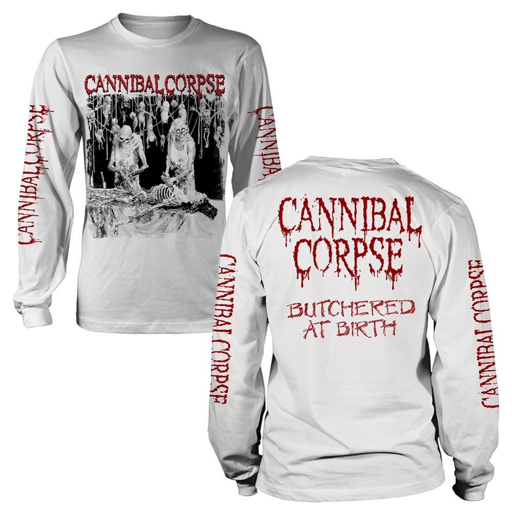Cannibal Corpse - Butchered At Birth (White Longsleeve)