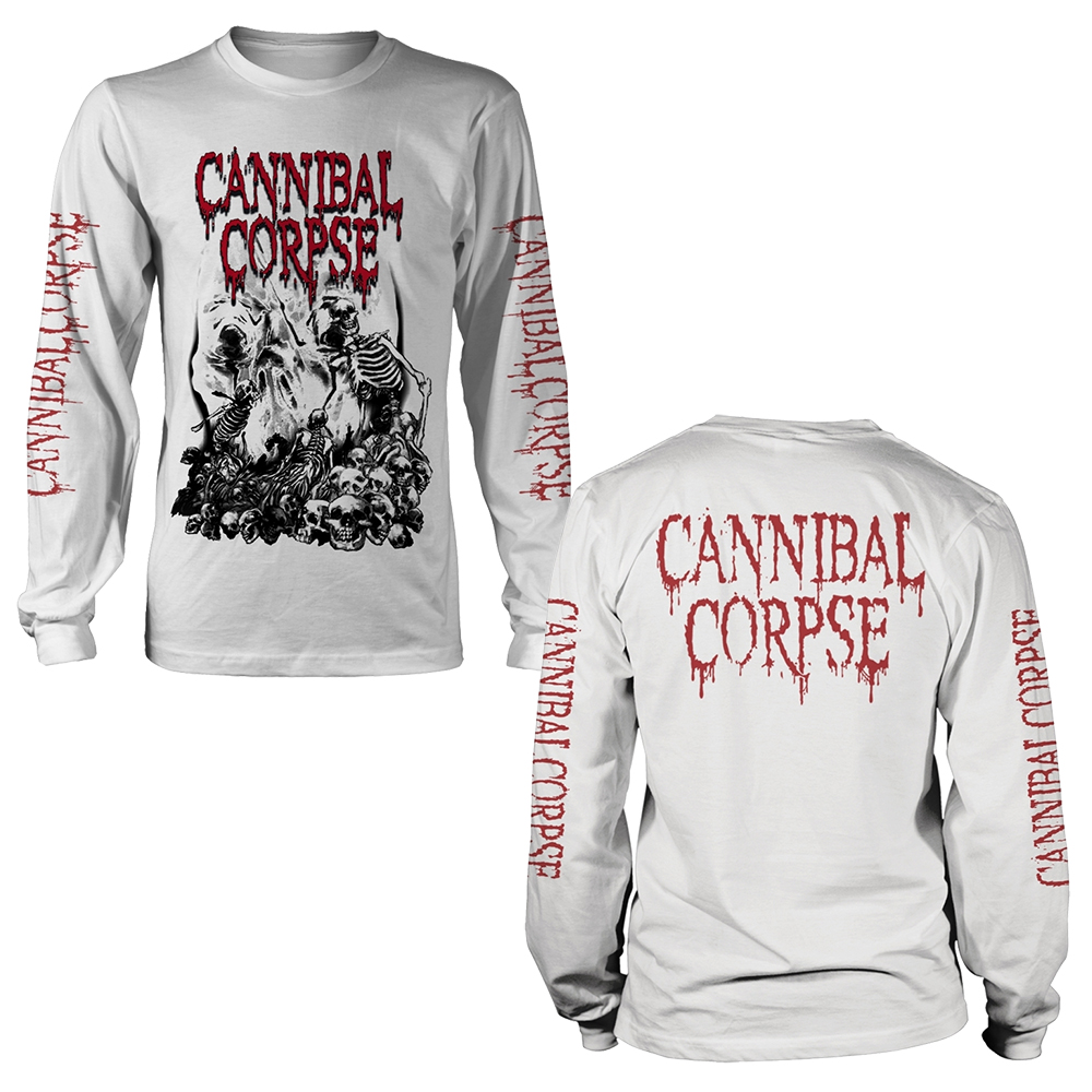 Cannibal Corpse - Pile Of Skulls 2018 (White Longsleeve)