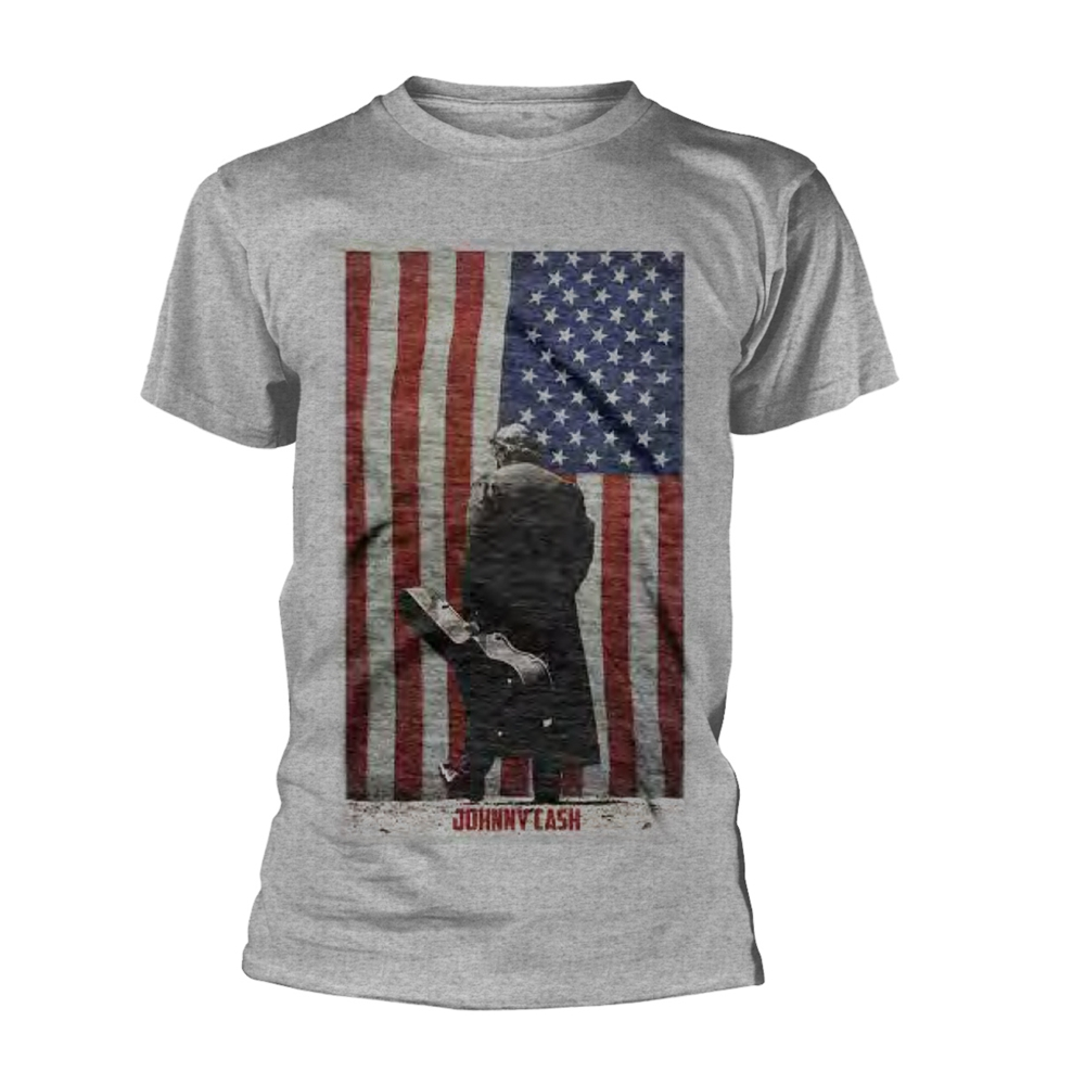 Johnny Cash - American Flag (Grey)