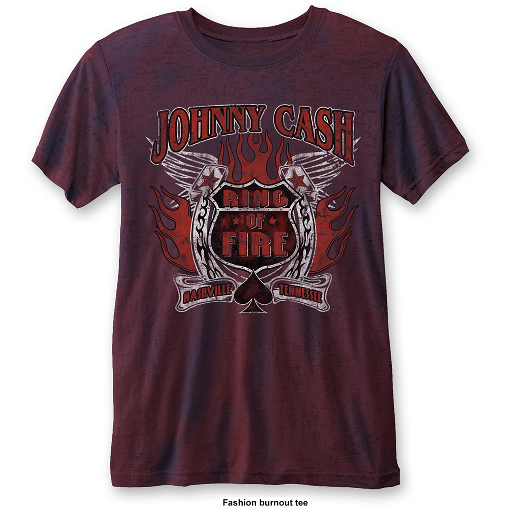 Johnny Cash - Ring Of Fire Burnout (Navy/Red)