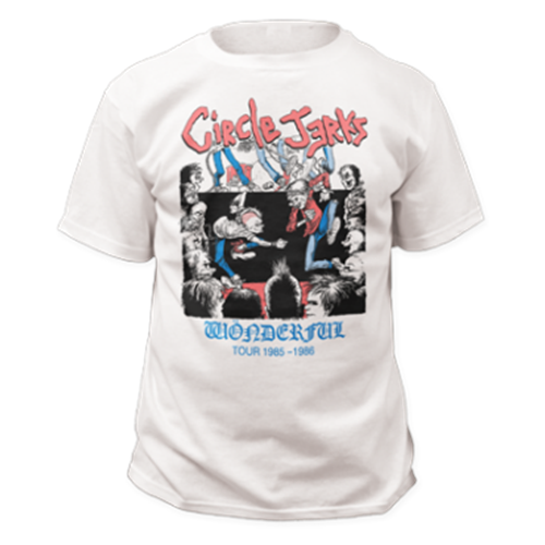 Circle Jerks - Wonderful Tour (White)