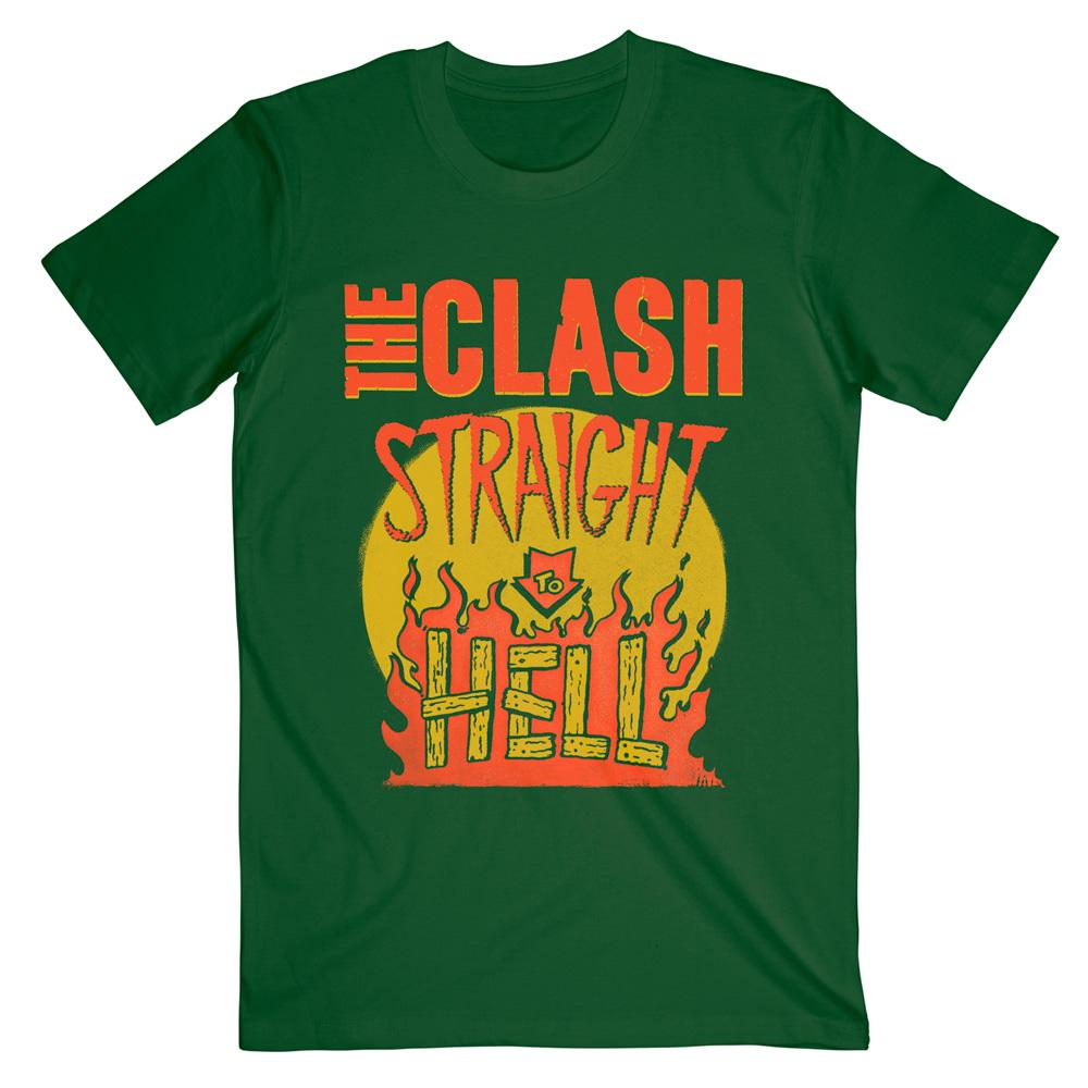 The Clash - Straight To Hell Military Green T-Shirt