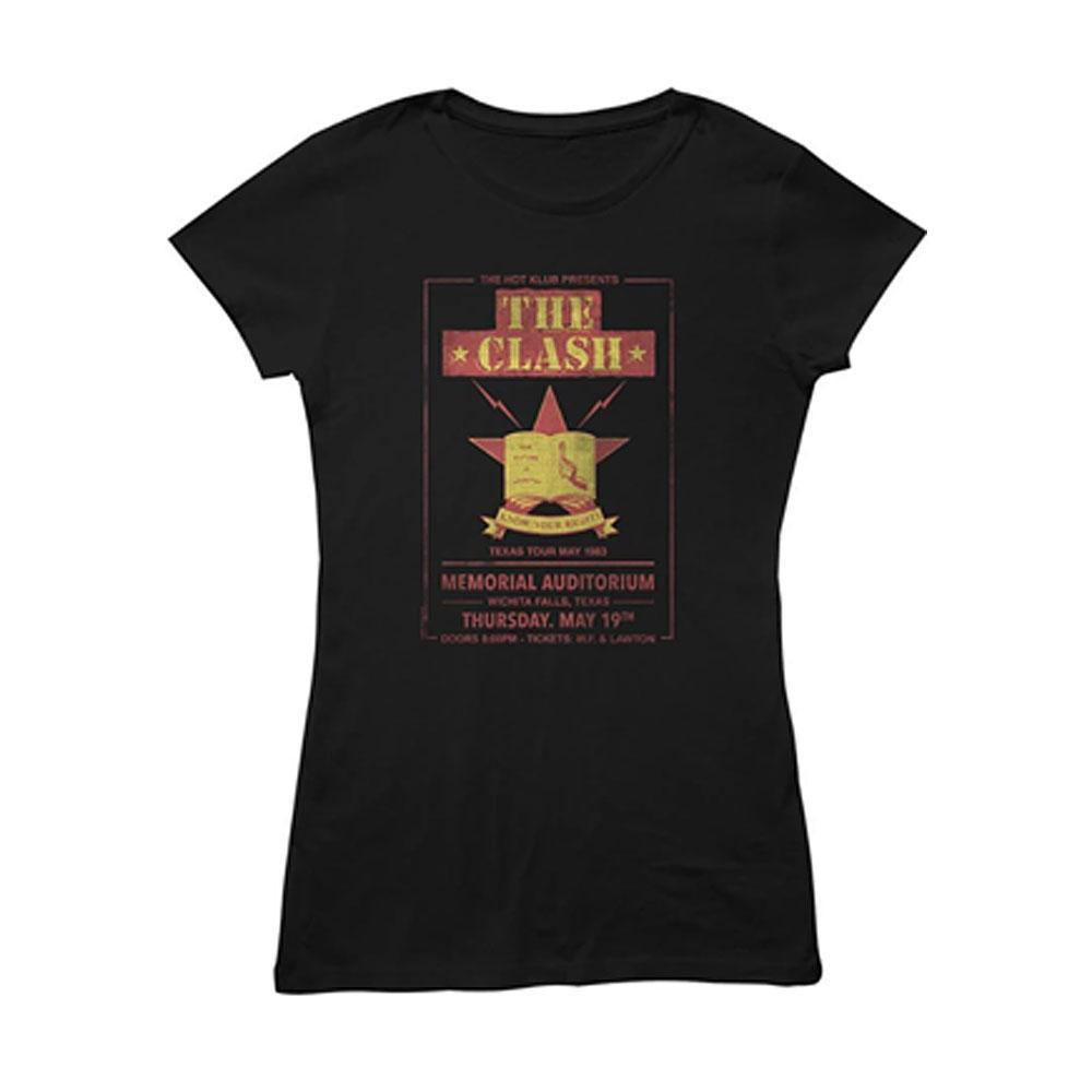 The Clash - Texas Tour 83 Ladies T-Shirt