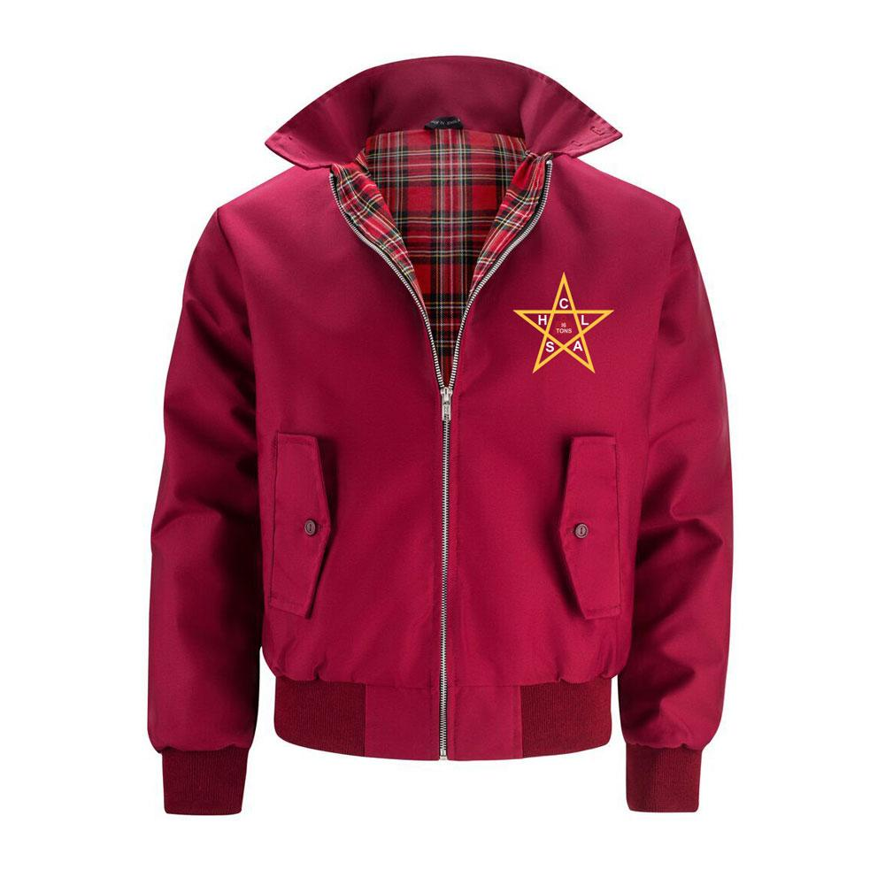 The Clash - The Clash Harrington Jacket Burgundy