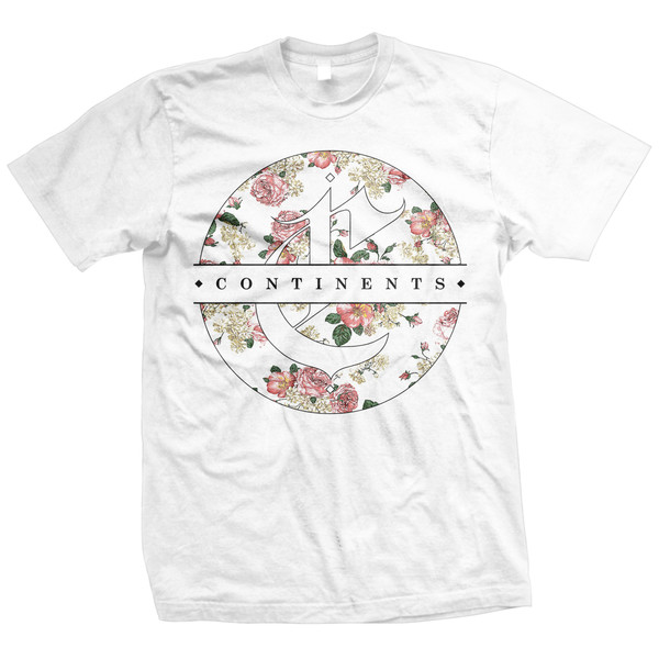 Continents - Floral (White)