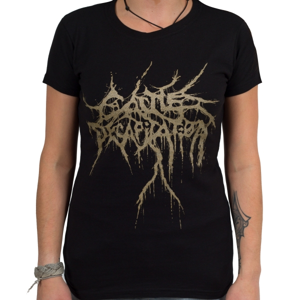 Cattle Decapitation - Gold Logo (Women's) (Black)