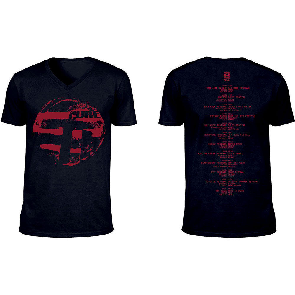 The Cure - Eastern Red Logo (Ex-Tour/V-Neck & Back Print)