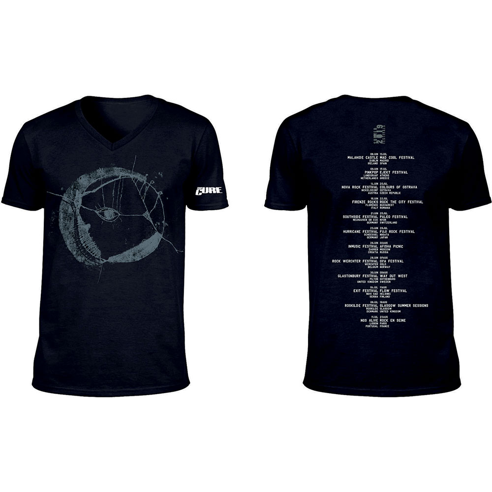 The Cure - Eyemoon Logo (Ex-Tour/V-Neck & Back Print)