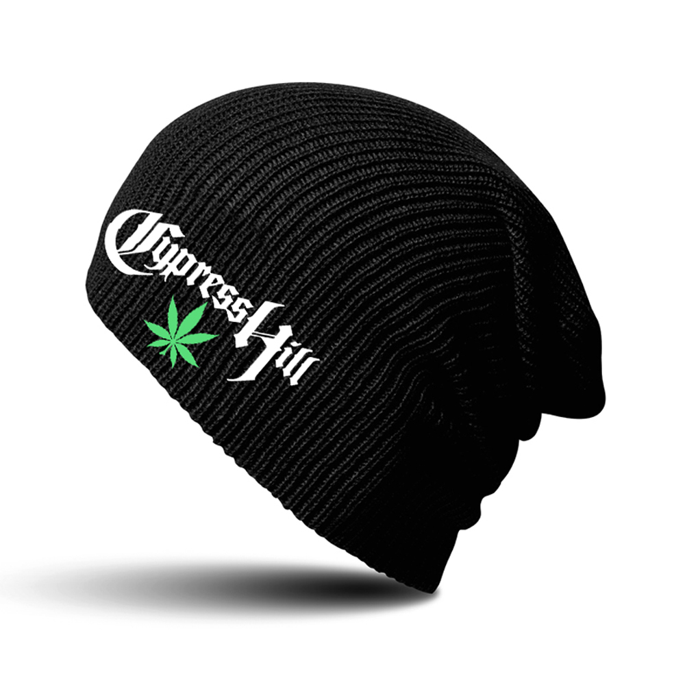 Cypress Hill - Leaf Logo Black Beanie