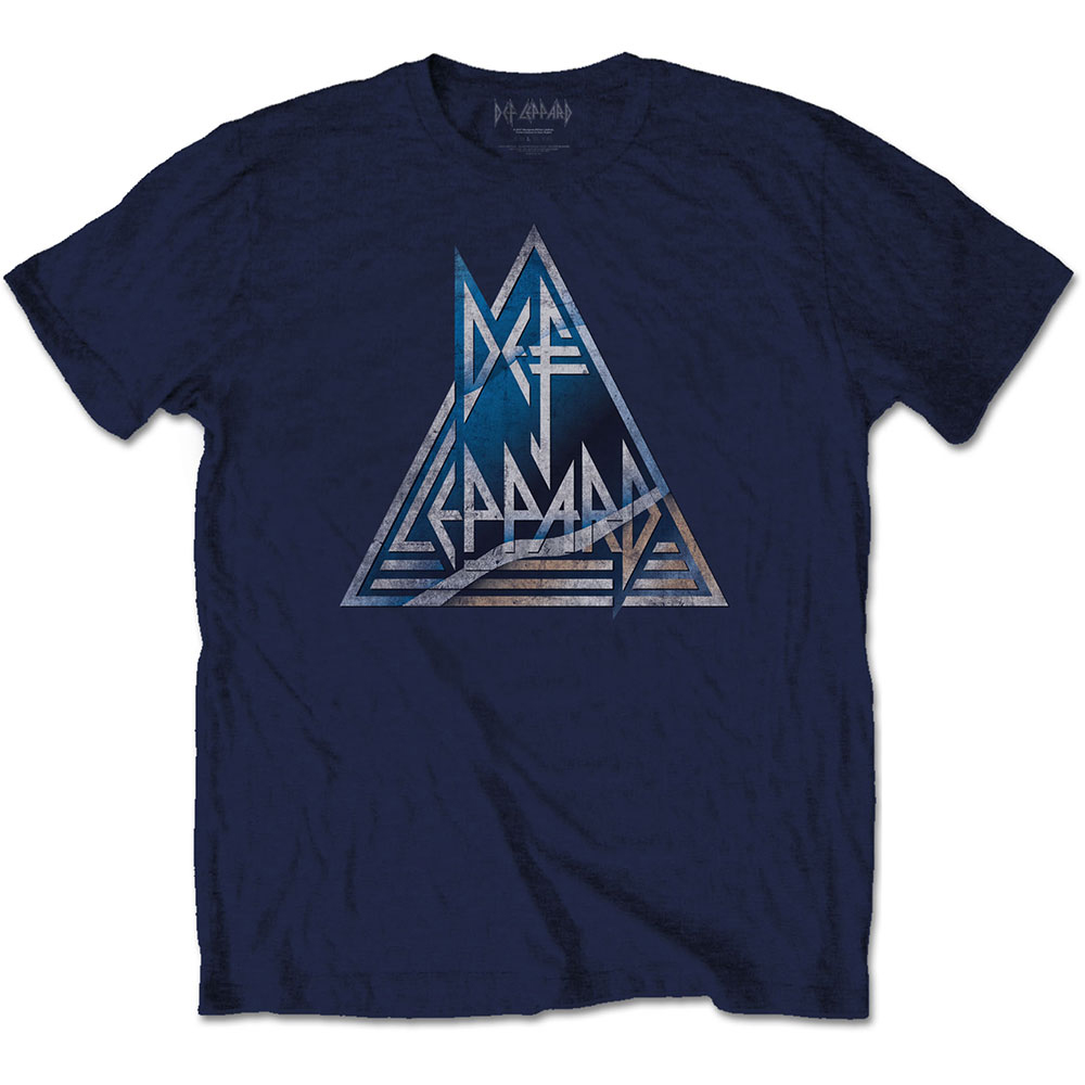 Def Leppard - Triangle Logo (Navy Blue)