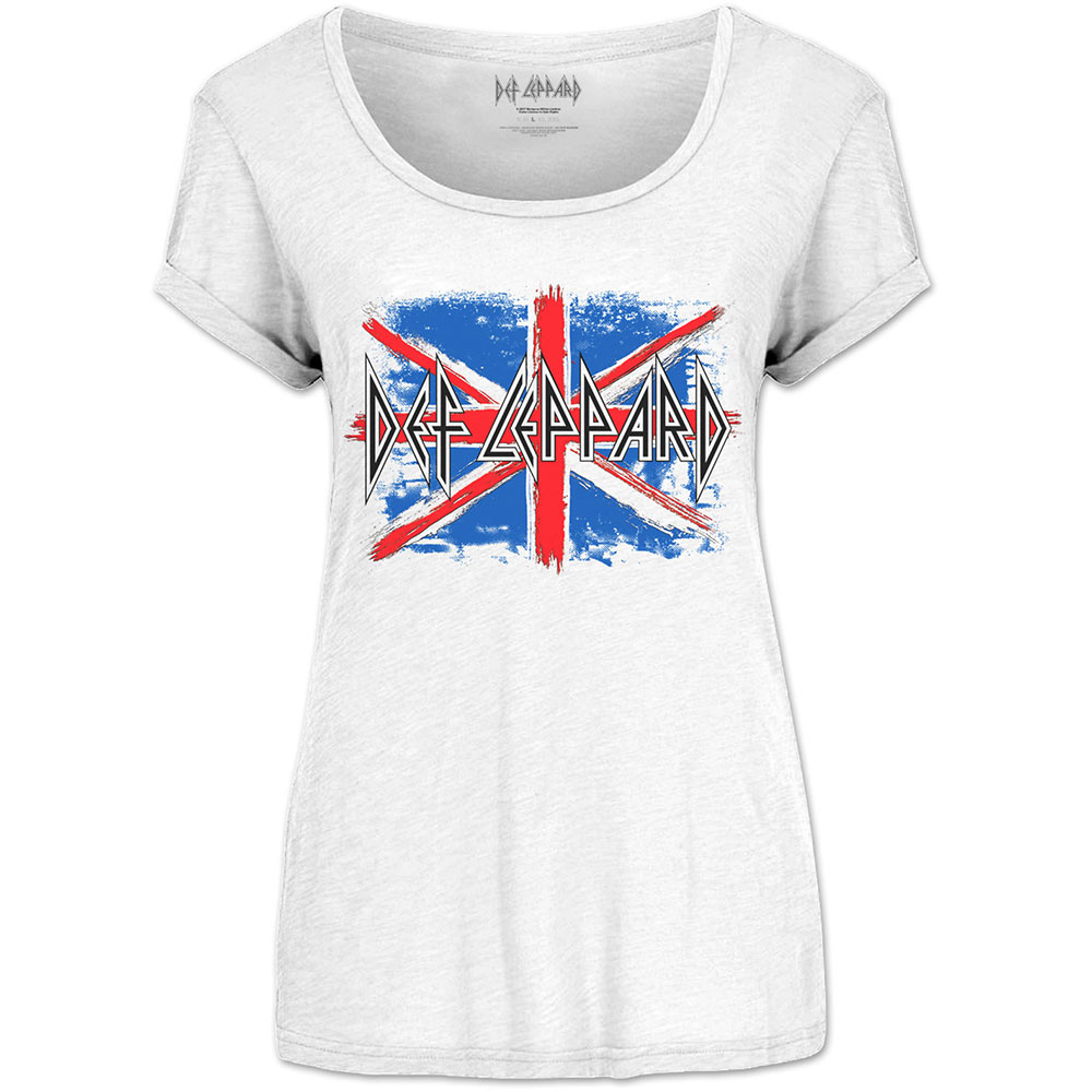 Def Leppard - Union Jack (Scoop Neck)
