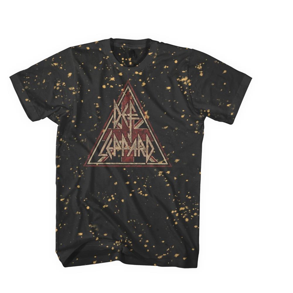 Def Leppard - Pyramid Logo Bleach Treatment (Black)