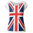 Def Leppard Full Print Union Jack (Vintage White) (Womens) USA Import T-Shirt (Womens)