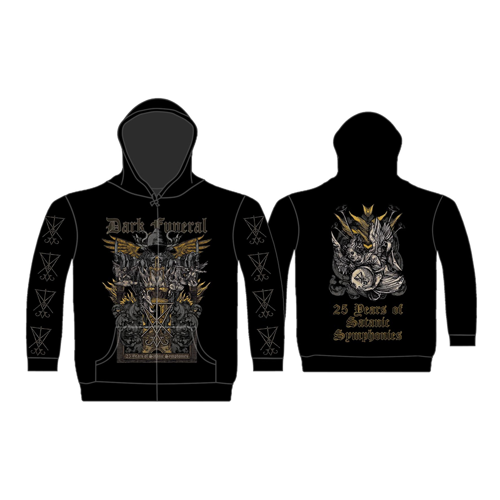 Dark Funeral - 25 Years Of Satanic Symphonies (Zip Hoodie)