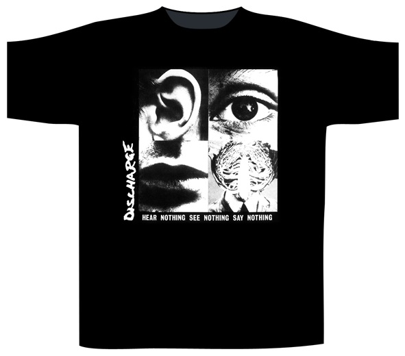 Discharge - Hear Nothing See Nothing (Black)