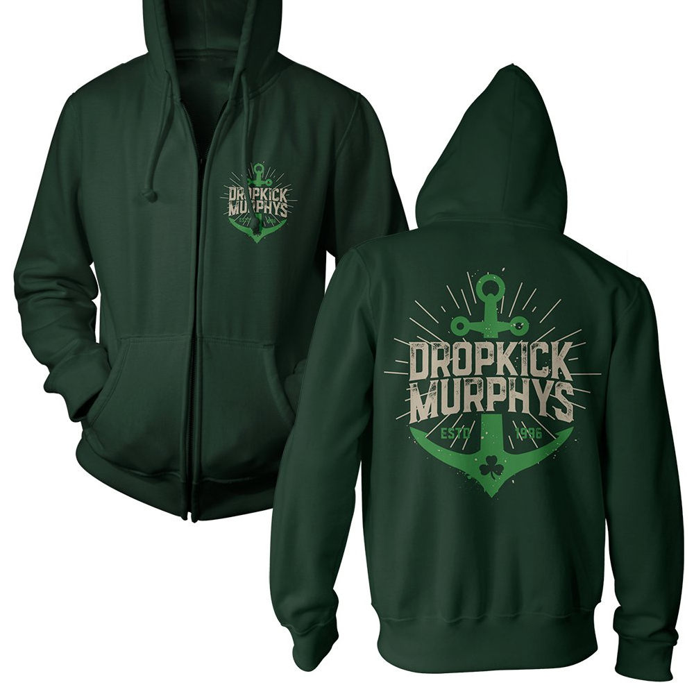 Dropkick Murphys - Anchor Admat (Green Zip-Hood)