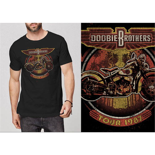 The Doobie Brothers - Motorcycle Tour 1987 (Black)