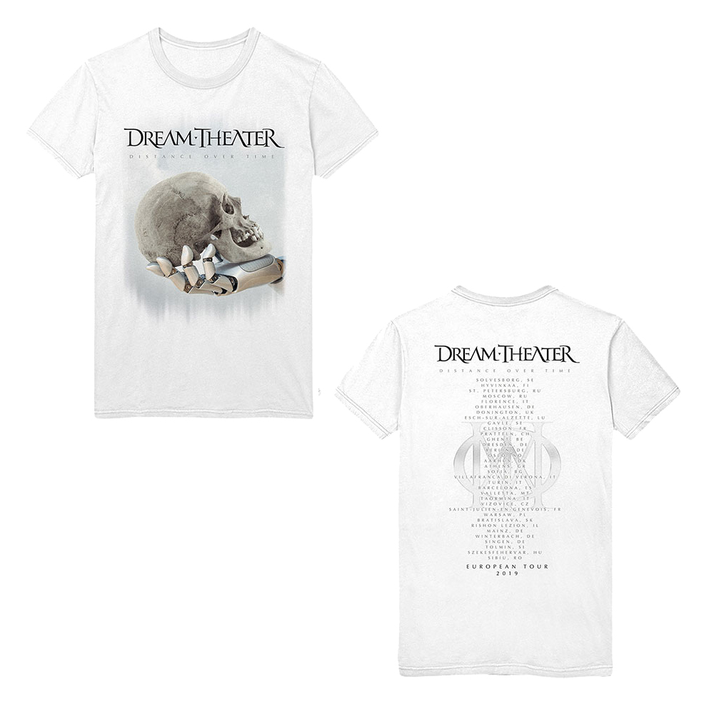 Dream Theater -  Skull Fade Out (Back Print) (White)