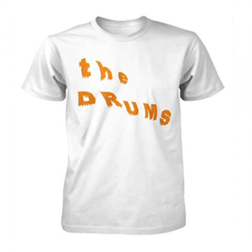 The Drums - Slanted Text  (White)