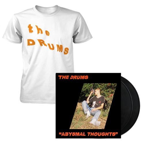 The Drums - *BUNDLE* Slanted Text T-Shirt AND Abysmal Thoughts-  Black LP Version:(Double LP) 12""