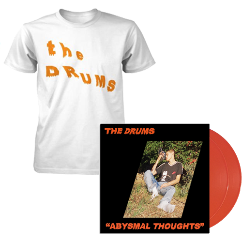 The Drums - *BUNDLE* Slanted Text T-Shirt AND Abysmal Thoughts -  Orange Edition:(Double LP) 12""