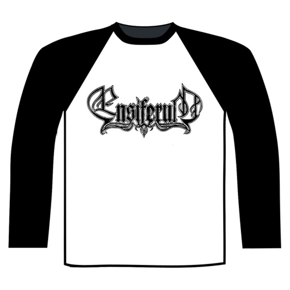 Ensiferum - Logo Baseball shirt (Black/white)
