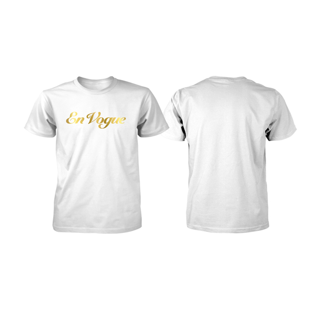 En Vogue - Gold Foil Logo (White)