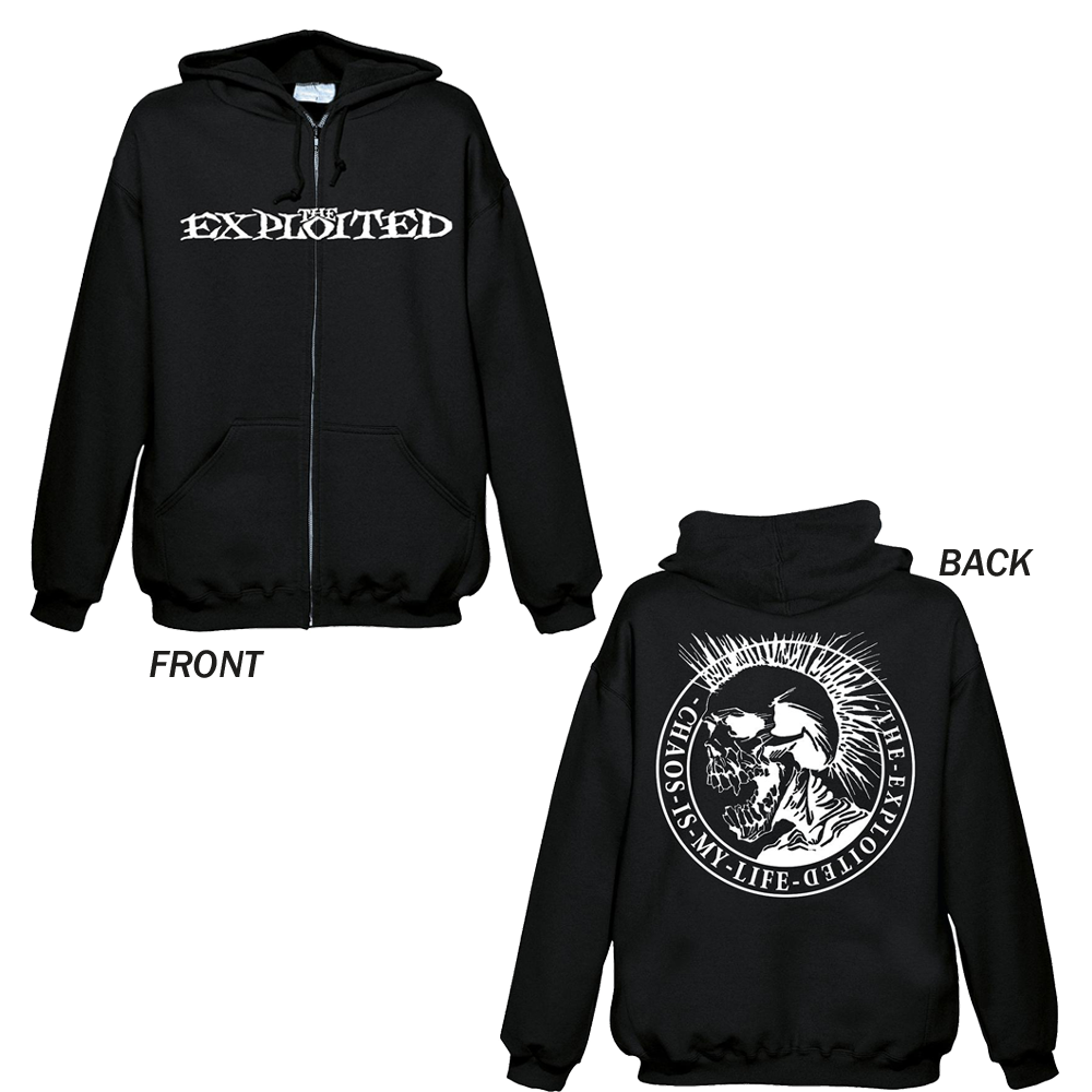 The Exploited - Chaos Is My Life (Zipped Hoodie)