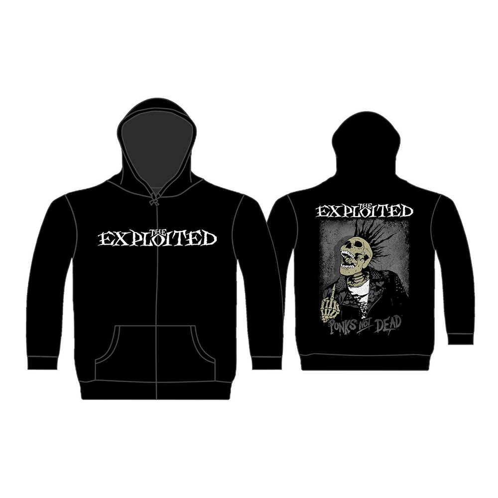 The Exploited - Splatter / Punks Not Dead (Zip Hoodie)