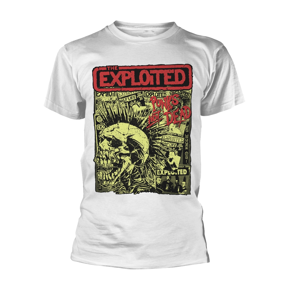 The Exploited - Punks Not Dead (White)