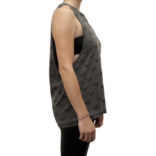Feed Me - Grey and Black All Over Print Sleeveless (Ladies)
