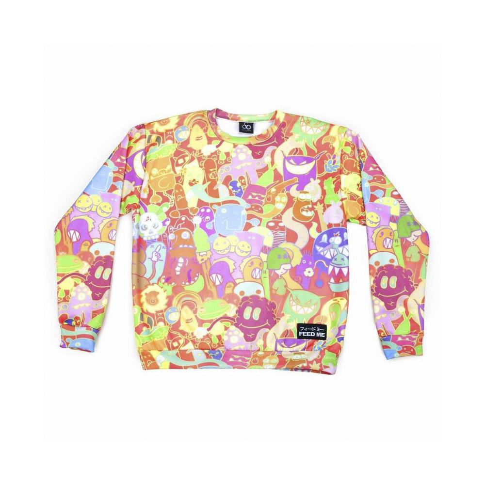 Feed Me - All Over Monster Crew Neck