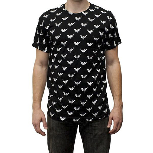 Feed Me - Black & White All Over Print Shirt