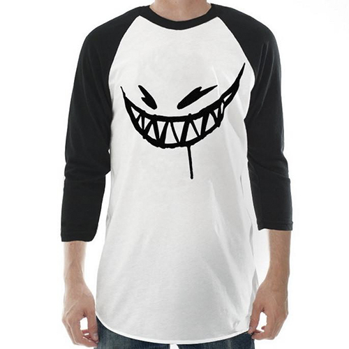 Feed Me - Painted Grin Baseball Tee