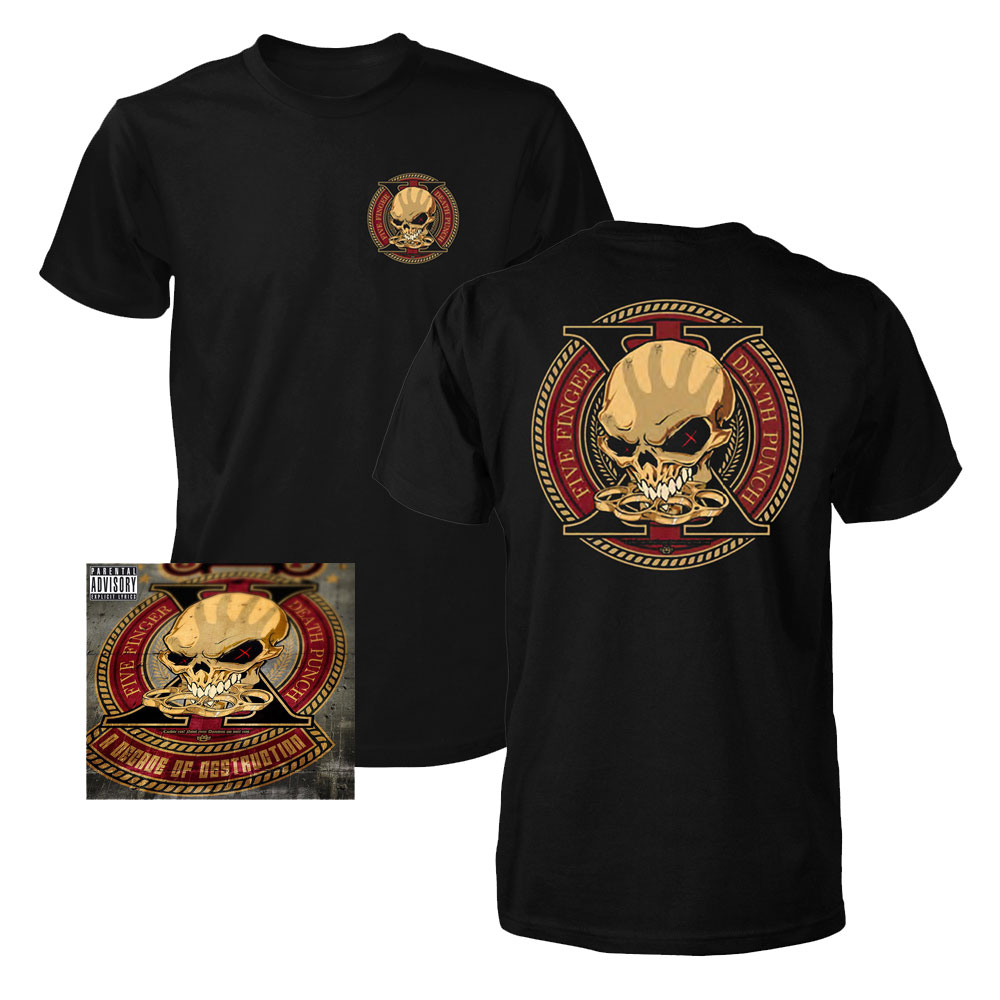 Five Finger Death Punch - Decade of Destruction (T-Shirt + CD)