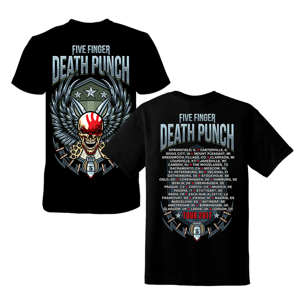 Five Finger Death Punch - Wingshield Fall 2017 Tour Dateback