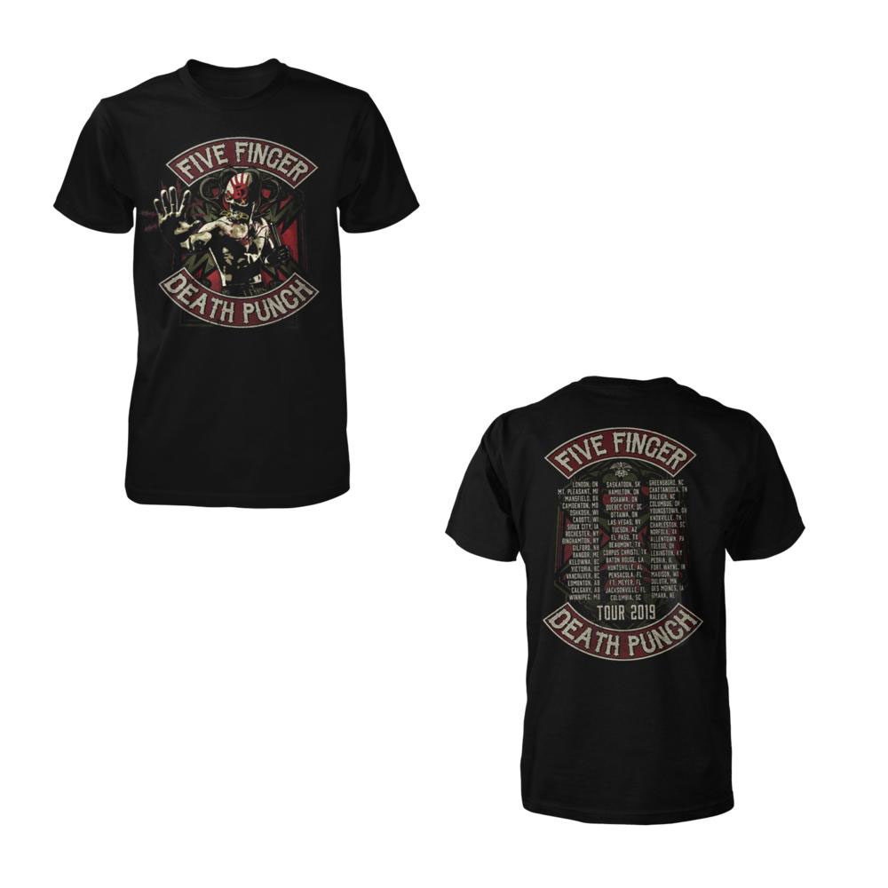 Five Finger Death Punch - Skully Nunchucks Tour 2019 Tee