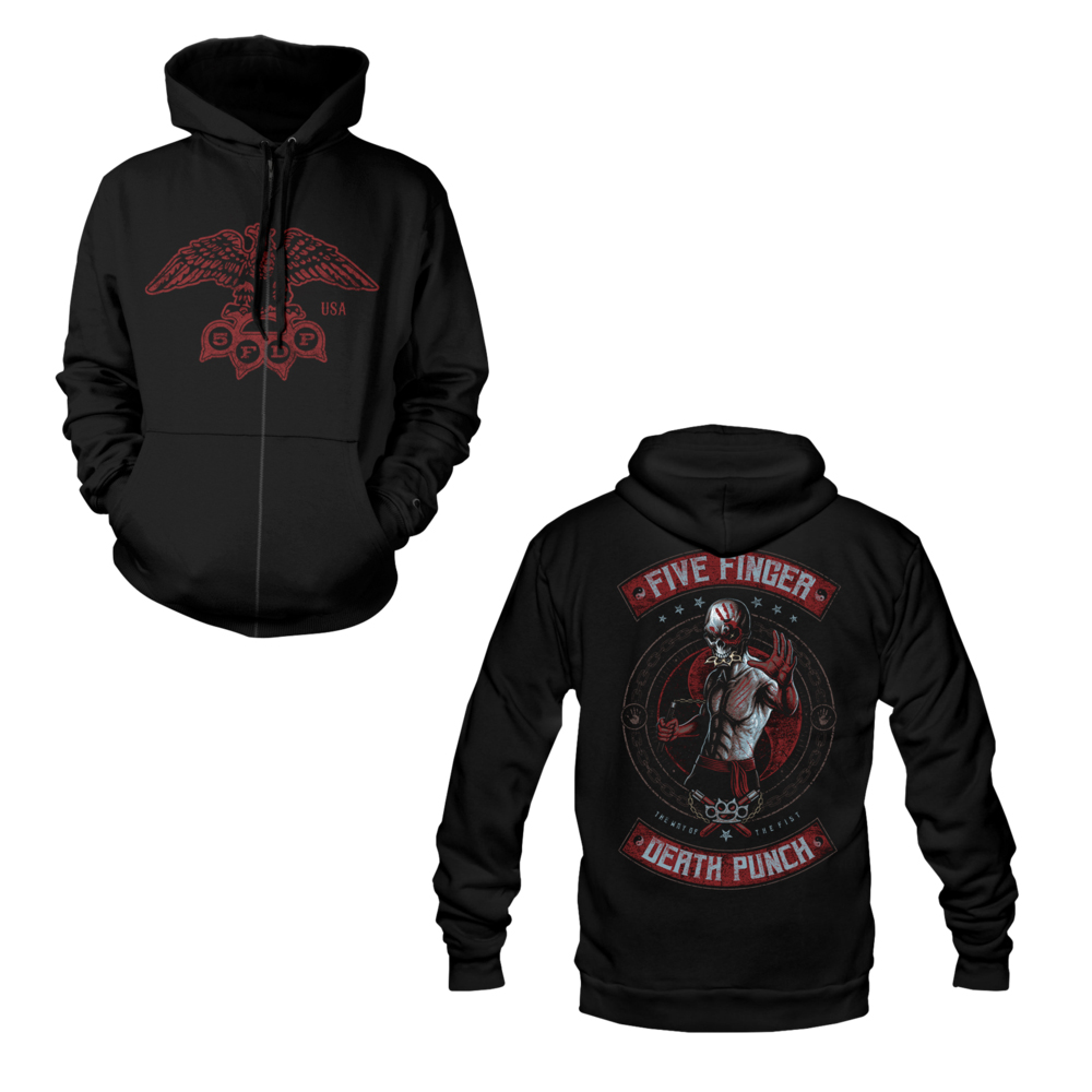 Five Finger Death Punch - Nunchuck Zip Hoodie