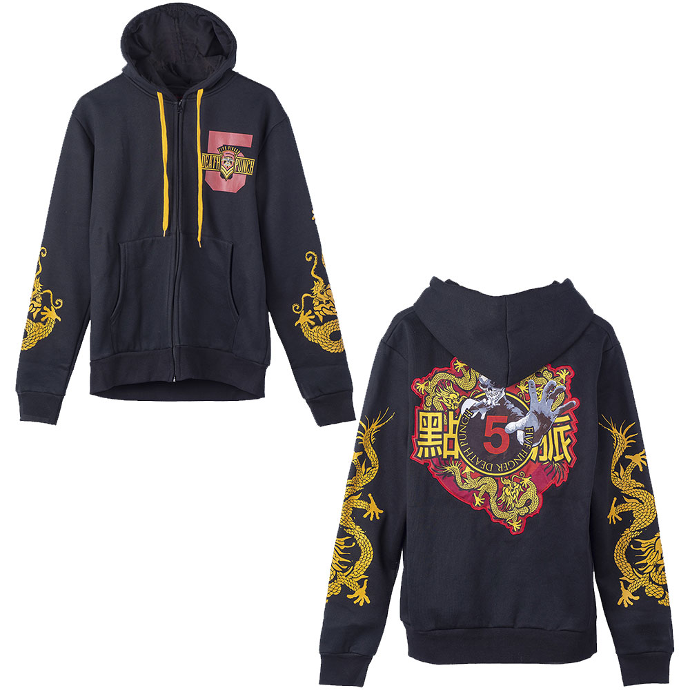 Five Finger Death Punch - Kung Fu Tattoo Zip Hoodie